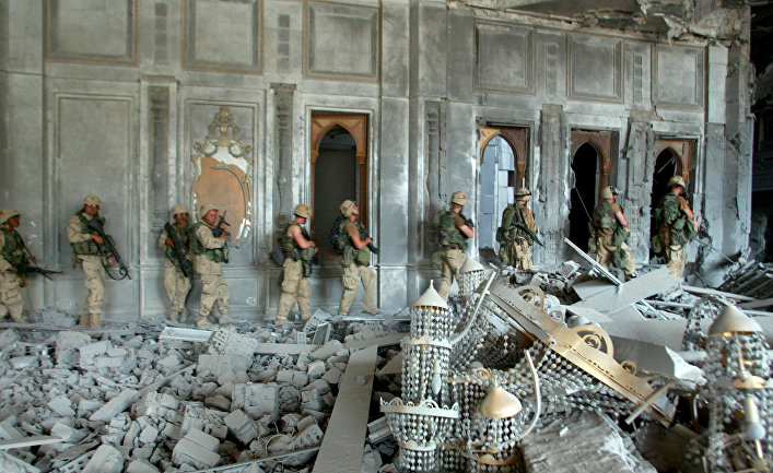 Солдаты армии США в Багдаде