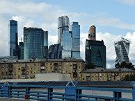"""Небоскребы делового центра """"Москва-сити"""""""