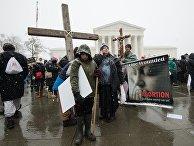 Противники абортов в Вашингтоне, США