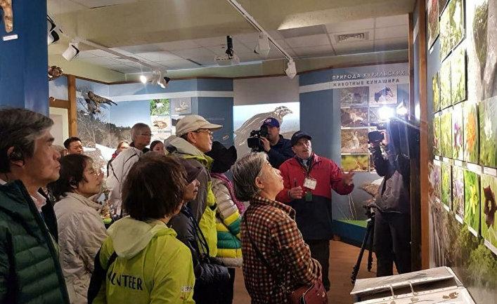 Визит первой группы японских туристов на южные Курилы