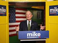Майкл Блумберг выступает в Финиксе, Аризона, как кандидат в президенты от Демократической партии