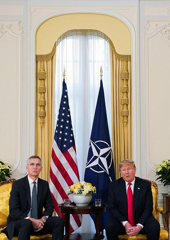 Президент США Дональд Трамп и генеральный секретарь НАТО Йенс Столтенберг