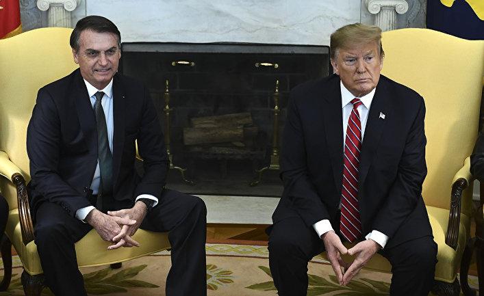 Президент США Дональд Трамп и президент Бразилии Жаир Больсонаро