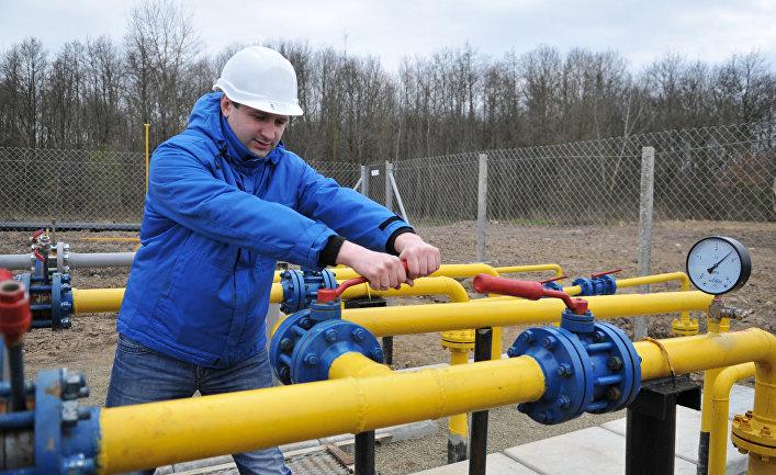 Компрессорная установка Креховского месторождения природного газа в Жидачевском районе Львовской области.