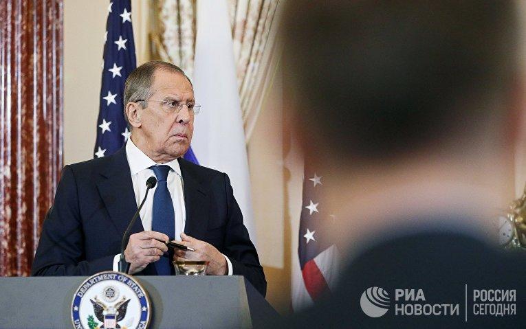 Встреча главы МИД РФ С. Лаврова и госсекретаря США М. Помпео