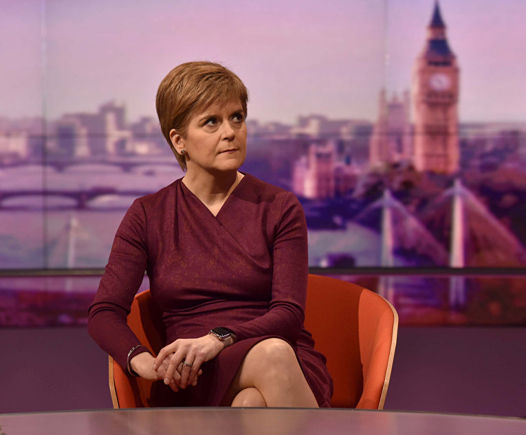 Первый министр Шотландии, а также лидер Шотландской национальной партии Никола Стерджен