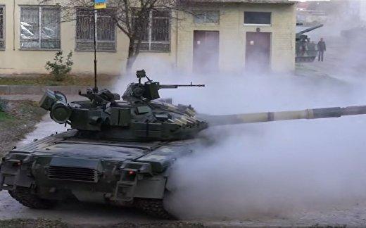 Дрифт украинского танка Т-80