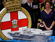 Официальная церемония ввода в эксплуатацию «Принца Уэльского»