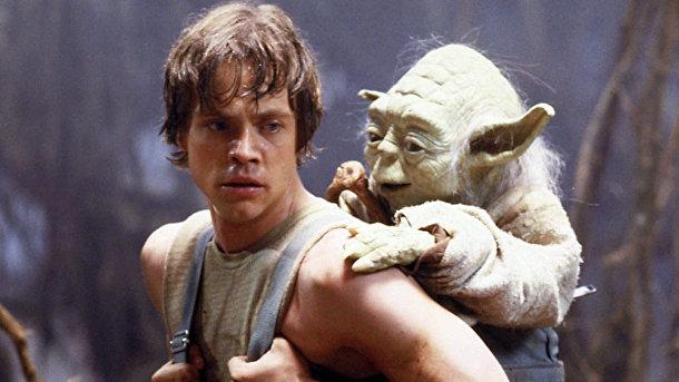 Люк начинает свое обучение у мастера Йоды