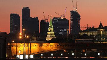 """Вид на Московский международный деловой центр """"Москва-Сити"""""""