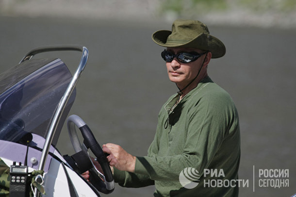 Поездка премьер-министра РФ В.Путина в Республику Тыва
