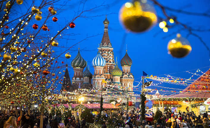 Рождественская ярмарка в Москве, Россия