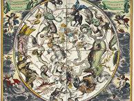 Созвездия с астрологическими знаками зодиака.