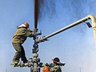 Нефтяники ставят заглушку на нефтяной фонтан
