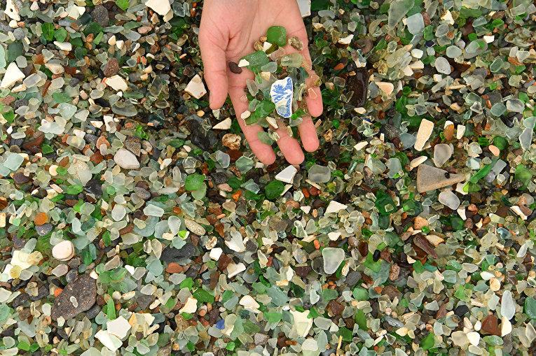 Стеклянный пляж в Уссурийском заливе