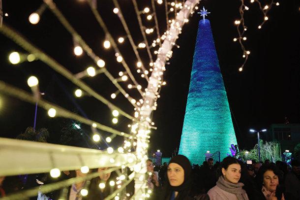 Рождественская елка в Чекке, Ливан
