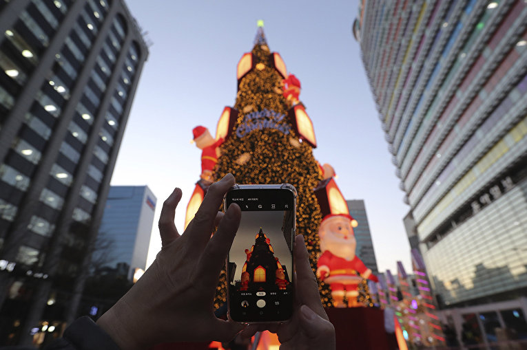 Рождественская елка в Сеуле