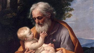 Святой Иосиф с младенцем Иисусом