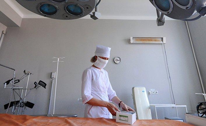 Операционная медицинская сестра в операционной в городской клинической больнице №3 г. Тамбова