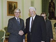 Президент РФ Борис Николаевич Ельцин и премьер-министр Великобритании Джон Мейджор