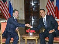 Пресс-конференция Дмитрия Медведева и Барака Обамы. Архив