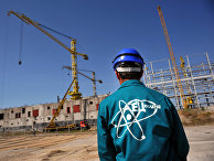 Строительство болгарской атомной станции недалеко от города Белене