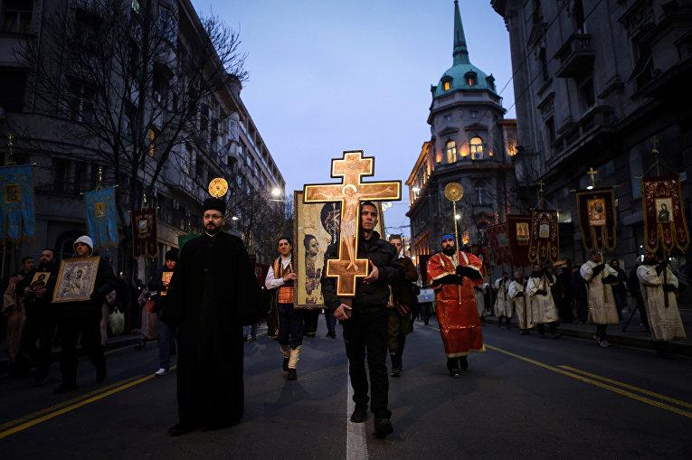 Участники «Молитвенного митинга» в Белграде
