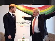 Британский принц Гарри и премьер-министр Великобритании Борис Джонсон