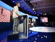 Шведская активистка Грета Тунберг выступает на форуме в Давосе, Швейцария