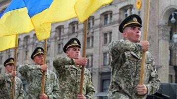 Репетиция парада ко Дню независимости Украины в Киеве