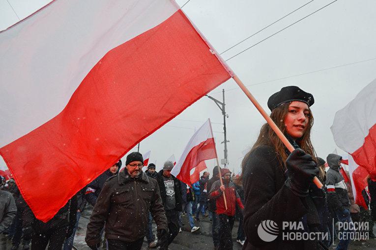 «Марш независимости» в Варшаве