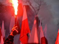 Марш в Варшаве в честь Дня независимости Польши