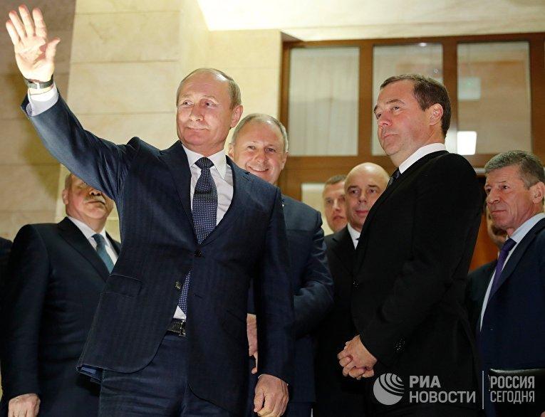 Владимир Путин и Дмитрий Медведев в Сочи
