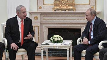 Встреча президента РФ В. Путина с премьер-министром Израиля Б. Нетаньяху
