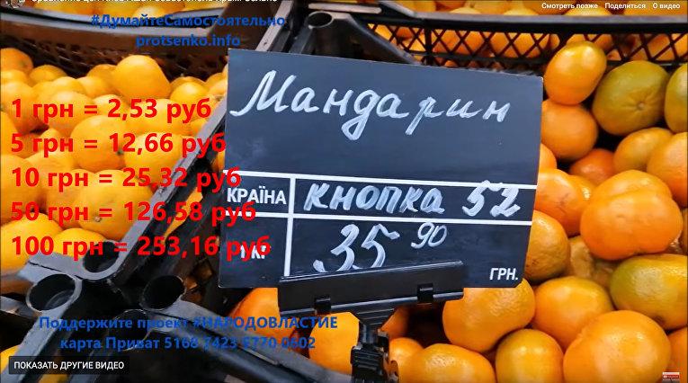 Сравнение цен на продукты в Киеве и Севастополе