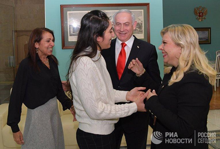 Премьер-министр Израиля Б. Нетаньяху встретился с Н. Иссахар и её матерью в Москве