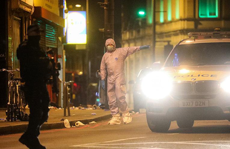 Место теракта в Стритхэме, Великобритания