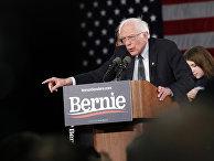 Кандидат в президенты США сенатор Берни Сандерс