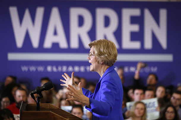 Кандидат в президенты США Элизабет Уоррен