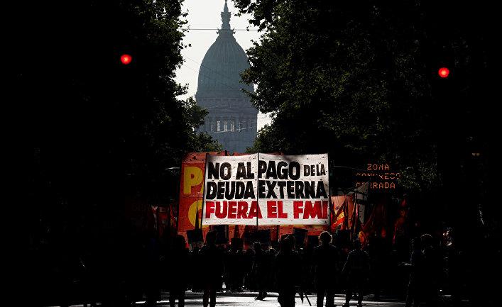 13 февраля 2020. Протесты против выплат МВФ, Буэнос-Айрес, Аргентина