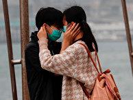 Молодая пара в Гонконге