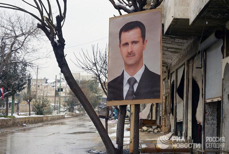 Портрет президента Сирии Башара Асада