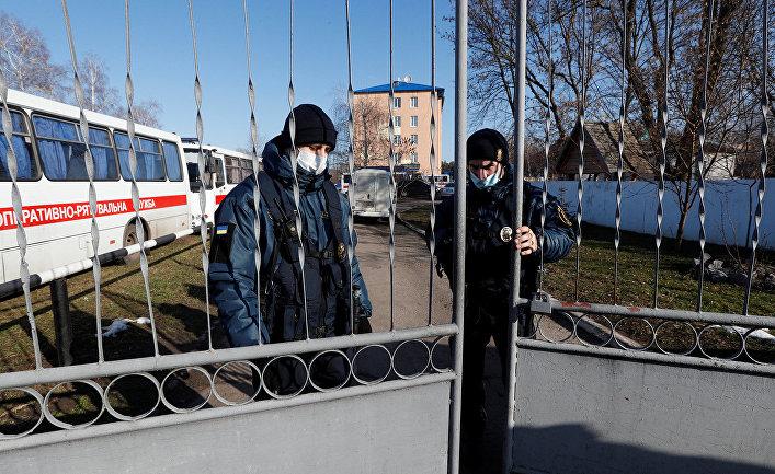 Санаторий, в котором находятся на карантине эвакуированные из китайской провинции Хубэй украинцы