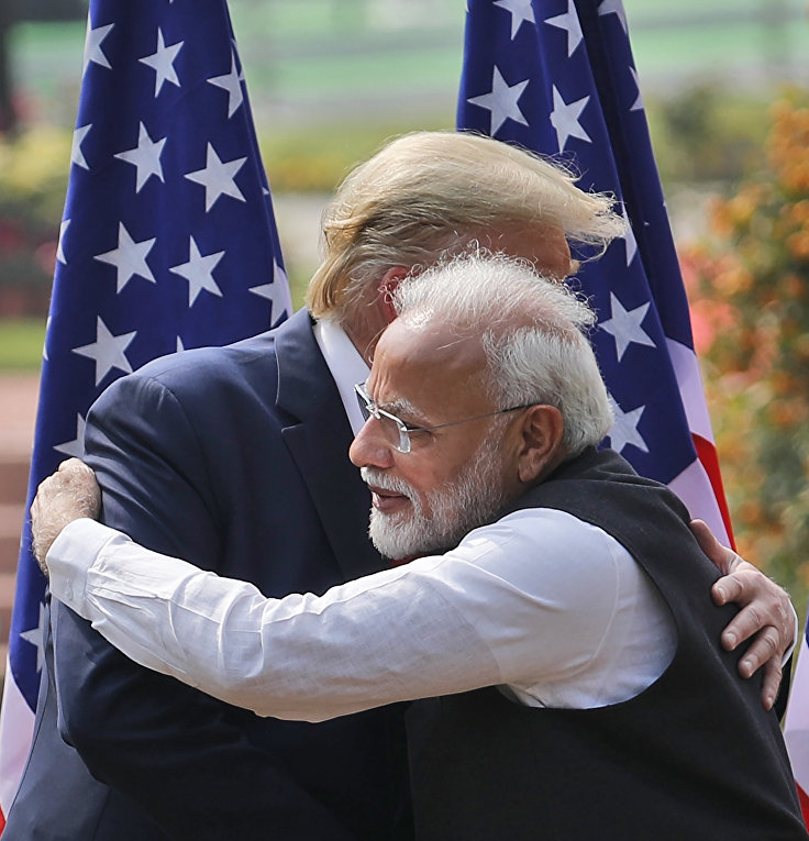 Президент США Дональд Трамп и премьер-министр Индии Нарендра Моди