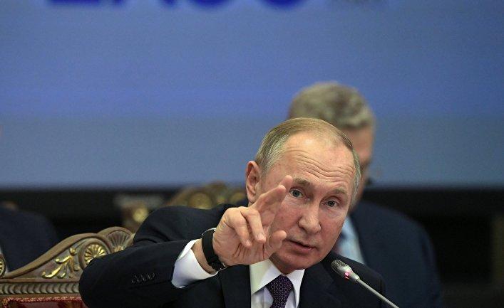 Президент РФ Владимир Путин на заседании Евразийского экономического сообщества