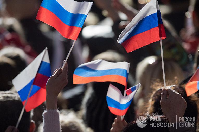 Митинг в Севастополе в честь годовщины воссоединения Крыма с Россией