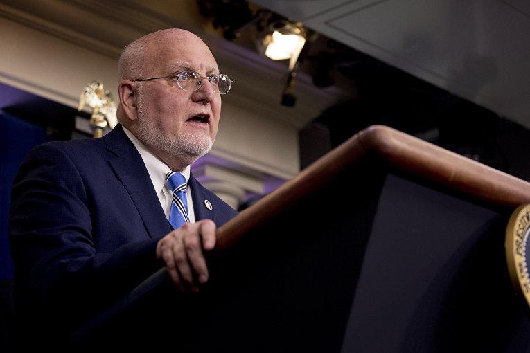 Роберт Редфилд на пресс-конференции в Вашингтоне