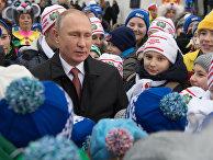 Президент РФ В. Путин встретился с гостями Кремлевской елки