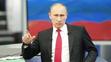 """Прямая линия """"Разговор с Владимиром Путиным. Продолжение"""" в 2010 году"""