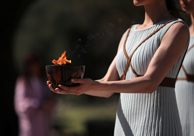 Церемония зажжения Олимпийского огня